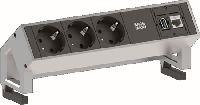 Bachmann 902301 Bachmann DESK 2 Facility System, 3 x Schutzkontakt, 1 x Cat6, 1 x USB, weiß