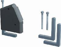Bachmann 930120 Bachmann DESK 1 Facility System, Haltewinkel für Tischplatten bis 50 mm