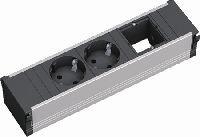 Bachmann 912003 Bachmann CONI Facility System Steckdoseneinheit 3-fach, 1 x Custom Module + 2 x Schu