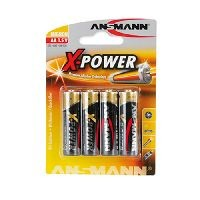 Ansmann 5015663 Ansmann X-Power Alkaline Batterie, Mignon (AA), VE: 4 Stück
