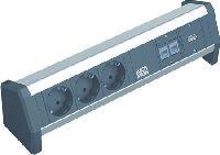 Bachmann 3391006 Bachmann DESK 1 Facility System, 2 x RJ45 Buchse Cat5e + USB Buchse + 3 x Schutzkon