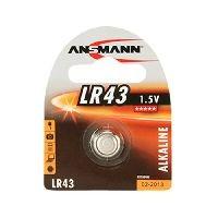 Ansmann 5015293 Ansmann Knopfzelle, LR43, 1,5 V Alkaline, VE: 1