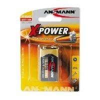 Ansmann 5015711 Ansmann X-Power Alkaline Batterie, 9V Block (E), VE: 10 Stück