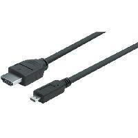 Delock 82663 DeLOCK Micro HDMI-Kabel, High Speed HDMI mit Ethernet, HDMI St. A / HDMI Micro St. D, 3
